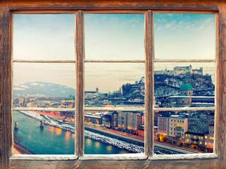Fensterblick Salzburg Stadt