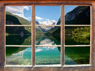 Fensterblick Gosausee