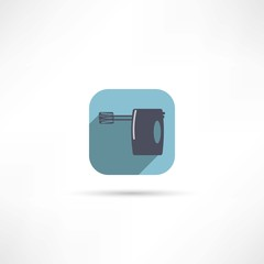 Kitchen hand mixer icon