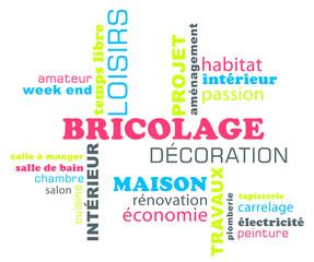 Nuage de mots sur le thème : bricolage, décoration et loisirs