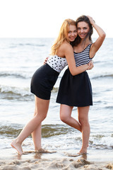 Best friends on the beach