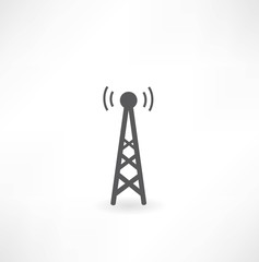 tower with radio waves icon
