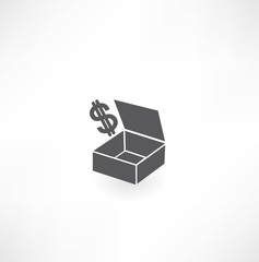 box with dollar icon