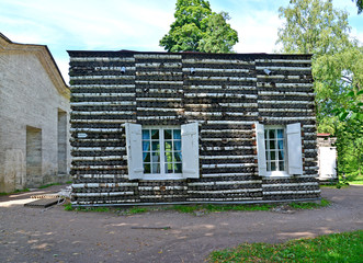 Birch lodge in Palace park of Gatchina