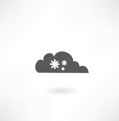 cloud with snowflakes icon