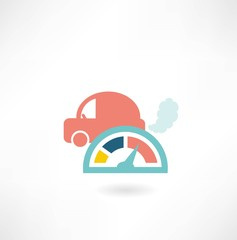 car and speedometer icon