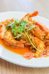 Fried shrimp garlic