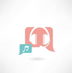 headphones with music icon