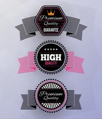 Modern badges. EPS10.