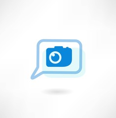 message with a camera icon