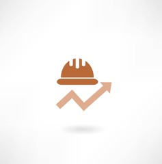 construction helmet with the schedule icon