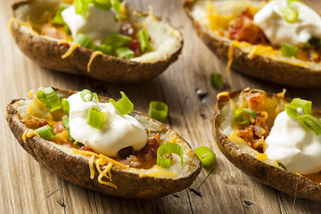 Homemade Potato Skins with Bacon