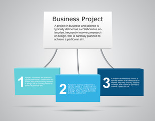 Vector 3D business infographic.