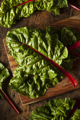 Raw Organic Red Swiss Chard
