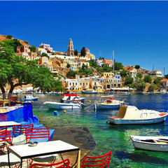 Symi - colorful small traditional island of Dodecanese, Greece