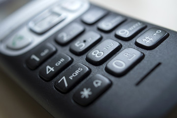 Telefon - Tastatur eines Festnetztelefons