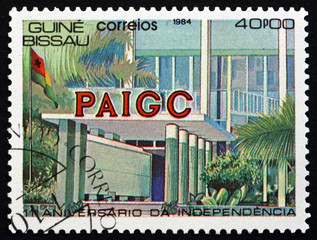 Postage stamp Guinea-Bissau 1984 PAIGC Building
