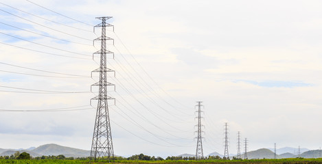Electricity transmission pylons