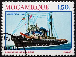 Postage stamp Guinea 1981 Tugboat Macuti