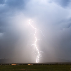 A Sudden Lightning Bolt in the Foothills