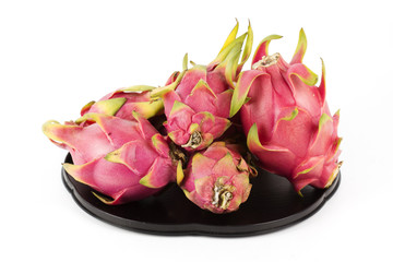 Dragon fruit on the tray