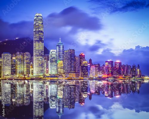 Foto op Canvas Hong-Kong Hong Kong, China City Skyline