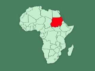 Map of worlds. Sudan.