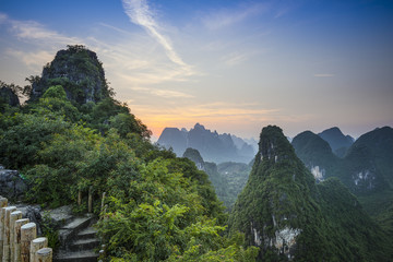 Xingping Karst Mountain Landscape in Guilin, China