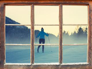 Fensterblick Langlaufen