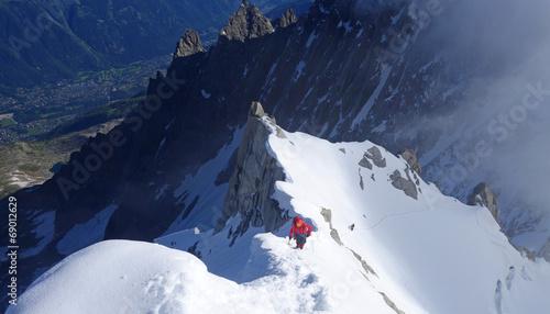 Papiers peints Alpes Alpinisme dans le massif du mont Blanc - arête Midi-Plan