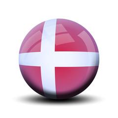 Drapeau en bulle : Danemark
