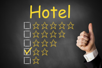 thumbs up hotel rating two stars