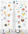 Business Infographic set with charts and other elements.