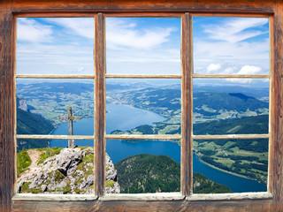 Fensterblick Schafberg