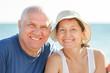 Happy senior man and mature woman