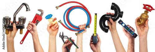Set of construction tools. - 69013423