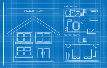 Blueprint, House Plan, Architecture
