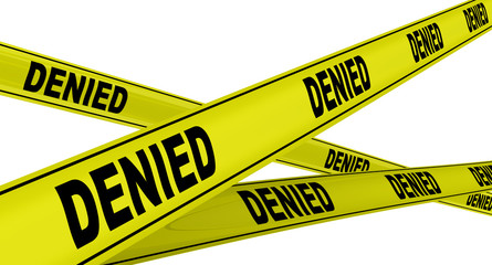 Отказано (denied). Желтая оградительная лента