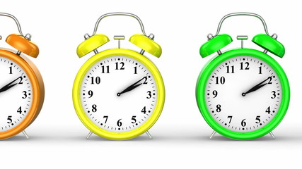 Colored Alarm Clocks
