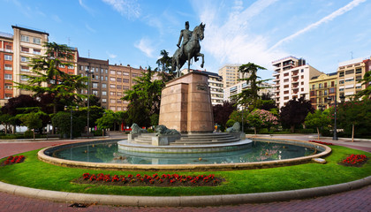 Monument of General Espartero. Logrono, Spain