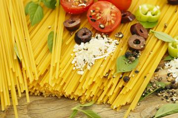 spaghetti preparation