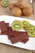 canvas print picture - Kiwi mit Schokolade