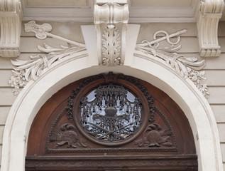 Kleiner Torbogen im Innenhof der Präsidentschaftskanzlei Wien