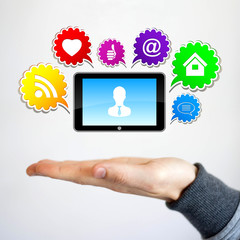 Business chat social network icons button