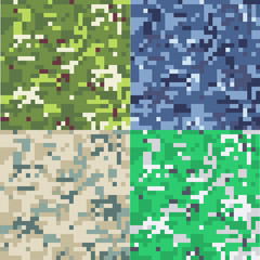 Set of camouflage military background