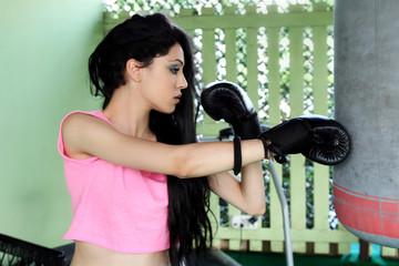Beautiful girl doing fitness
