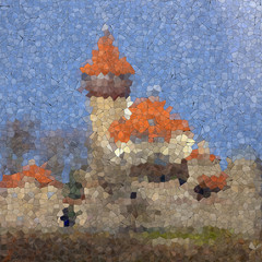 Castle Hnevin glass mosaic generated texture