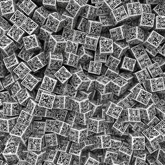 QR code dice background