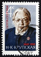 Postage stamp Russia 1964 Nadezhda Krupskaya, Lenin's Wife