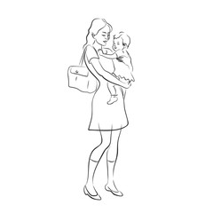 mother's arms